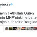 Tuğrul Türkeş, Fethullah Gülen'in projelerini överken…