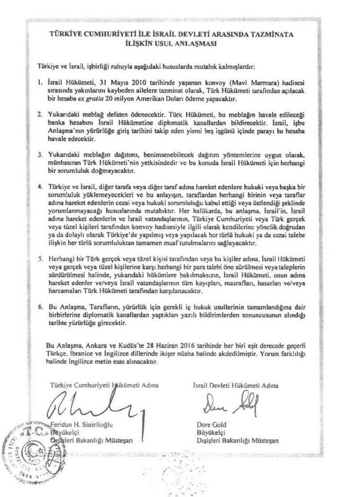 turkiye-israil-anlasmasinin-tam-metni