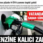 Benzin ve motorinin litresi 20-22 kuruş zamlandı