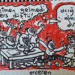 Karikatür – Ders düştü
