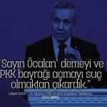 Sayın Öcalan demeyi ve PKK bayrağı açmayı suç olmaktan kim çıkardı?