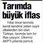 Türkiye tarımda dışa bağlı hale geldi