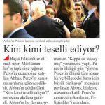 Mahmud Abbas ve Şimon Peres'in karısı birbirlerine sarılarak ağladı