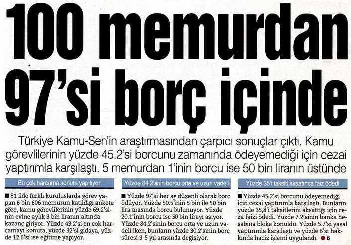 100-memur-97-borclu